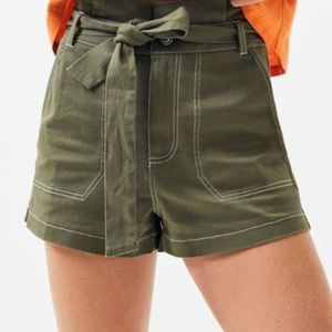 NWT Kendall & Kylie Green Utility Shorts